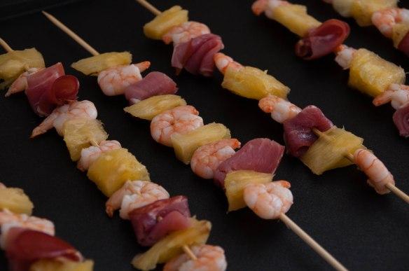 Brochettes de crevettes