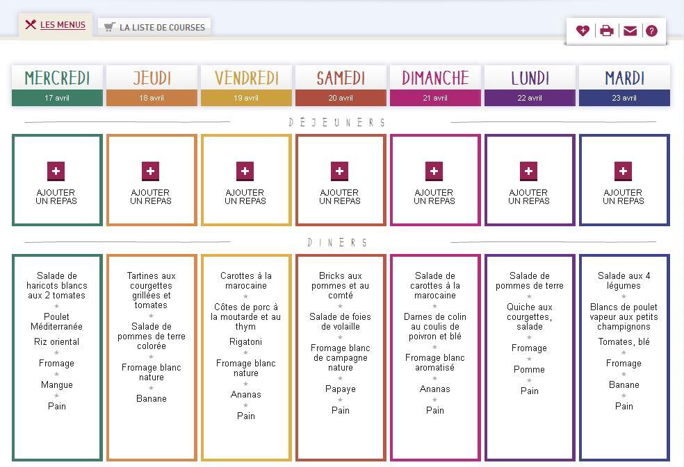En panne d id e pour composer vos menus ce site est fait for Idee repas convivial pas cher