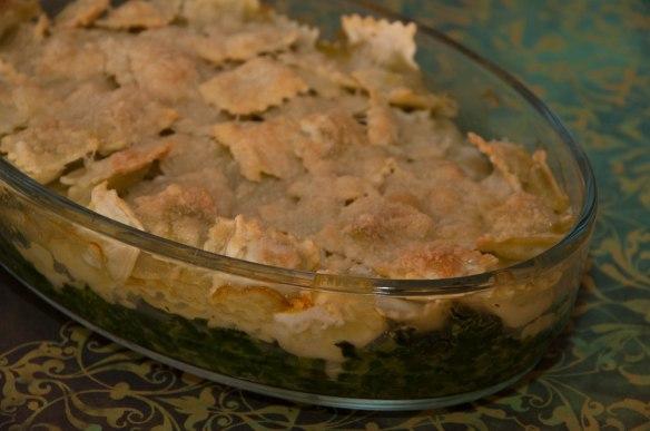 Gratin de ravioles aux épinards-2