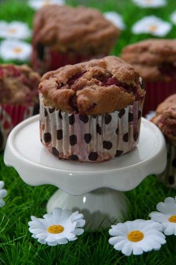 Muffins fraises pistaches