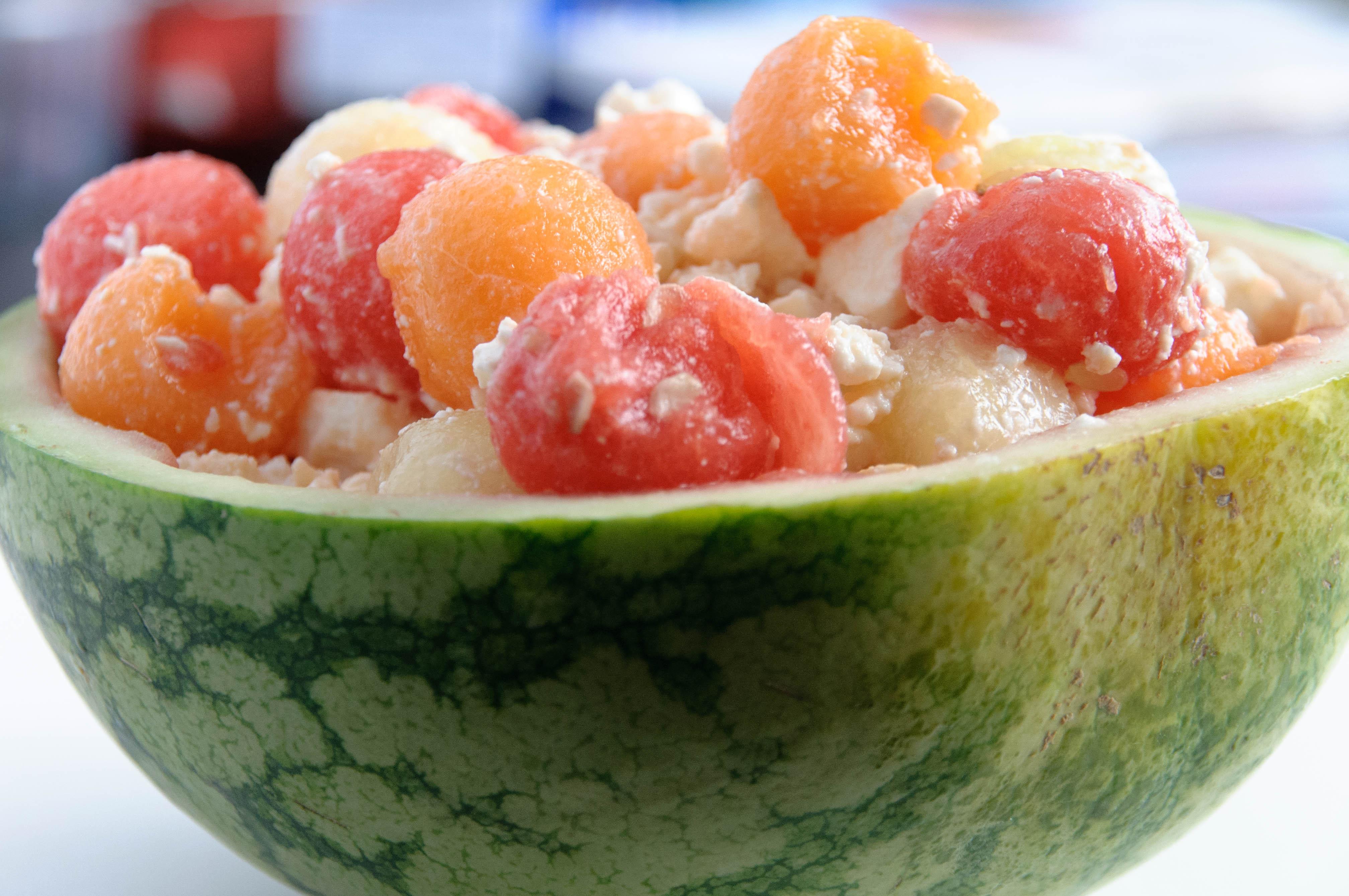 salade de melons et de pastèque à la fêta | les petits plats de