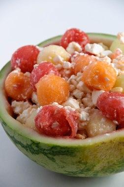 Salade de melons et pastèques
