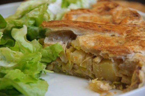 Tourte poireaux pommes de terre (vegan)-2